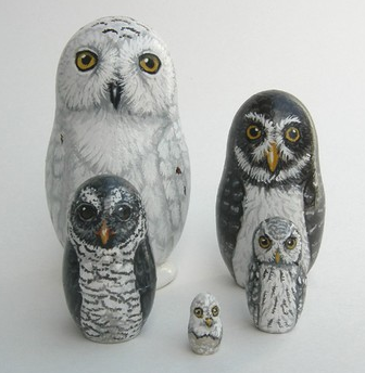 Nesting Dolls by SavageArtworks.etsy.com
